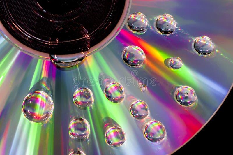 CD con le goccioline di acqua fotografia stock