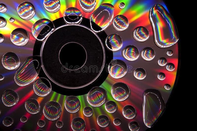 CD con Waterdrops fotos de archivo libres de regalías