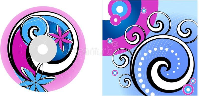 CD - conception d'étiquette de DVD illustration de vecteur
