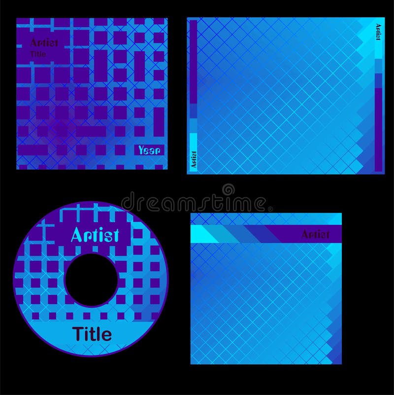 Download Cd cover blue design stock illustration. Image of abstract - 25097058