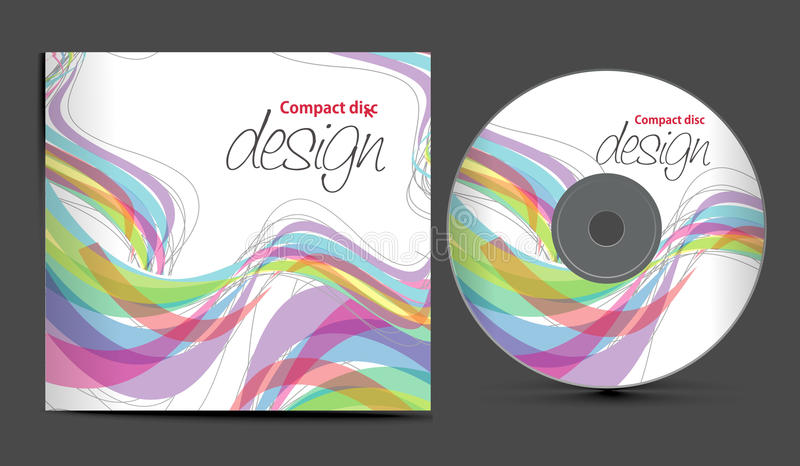 Cd cover design. Vector cd cover design template with copy space, illustration stock illustration