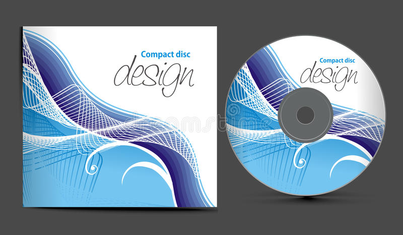 Cd cover design. Vector cd cover design template with copy space, illustration royalty free illustration