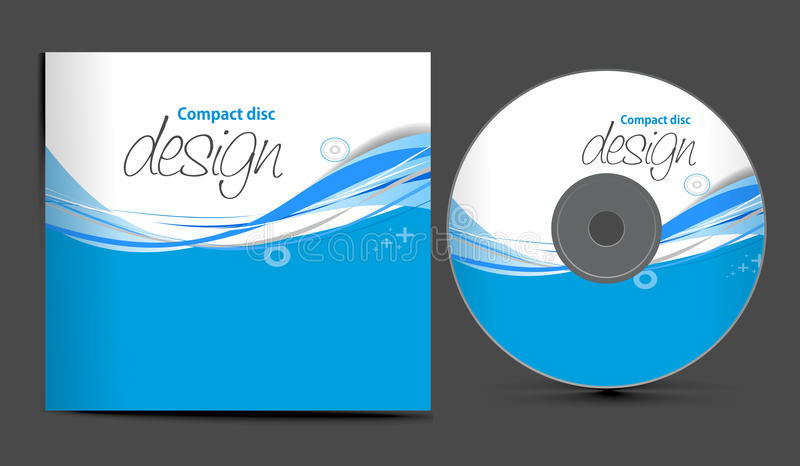 Cd cover design royalty free illustration
