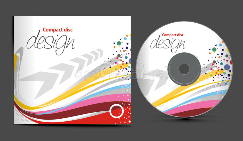 Cd cover design vector illustration