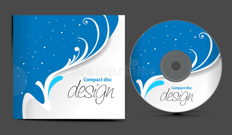 Cd cover design. Vector cd cover design template with copy space, illustration vector illustration