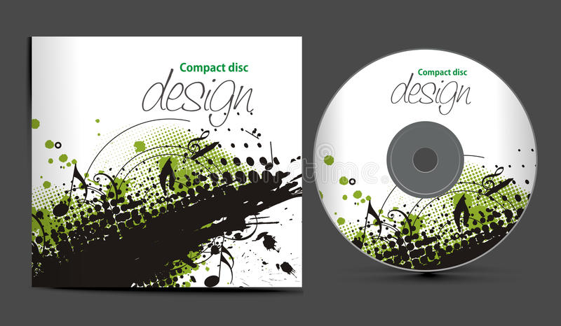 Cd cover design. Vector cd cover design template with copy space, vector illustration royalty free illustration