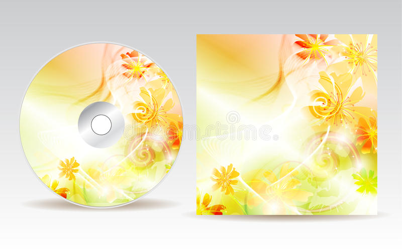 Download CD cover design stock vector. Image of abstract, decoration - 21305238
