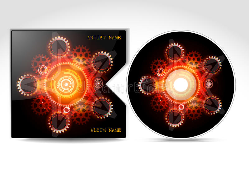 CD Cover Design Template stock illustration