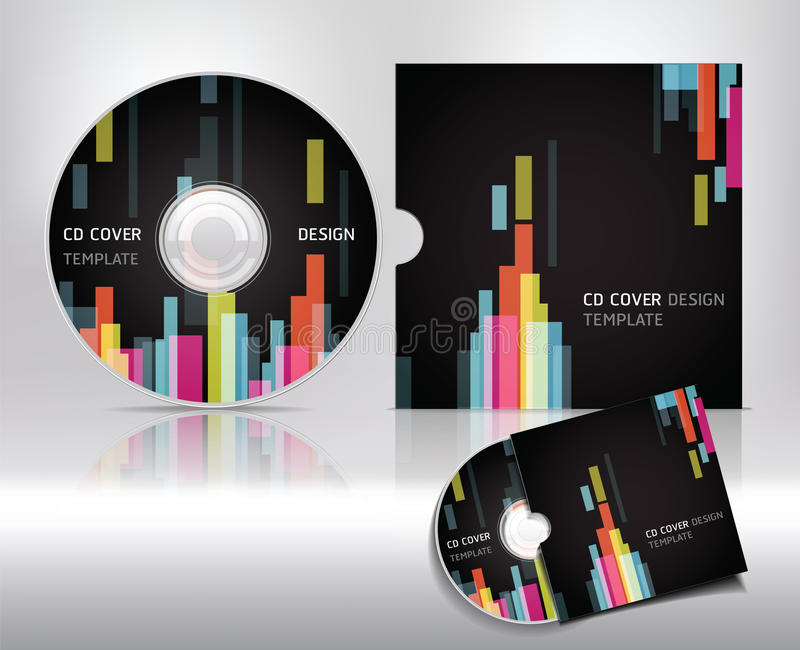 Cd cover design template. Abstract background. Vector illustration stock illustration