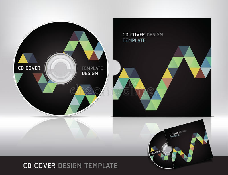 Cd cover design template. Abstract background. stock illustration