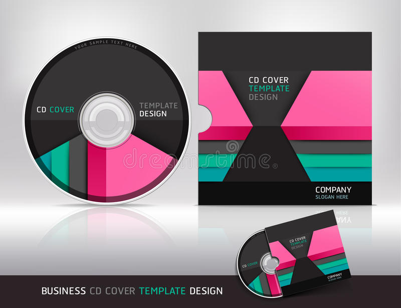 Cd cover design template. Abstract background. royalty free illustration