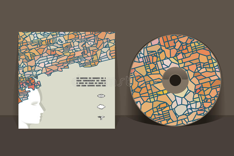 CD cover design template. Abstract pattern graphics royalty free illustration