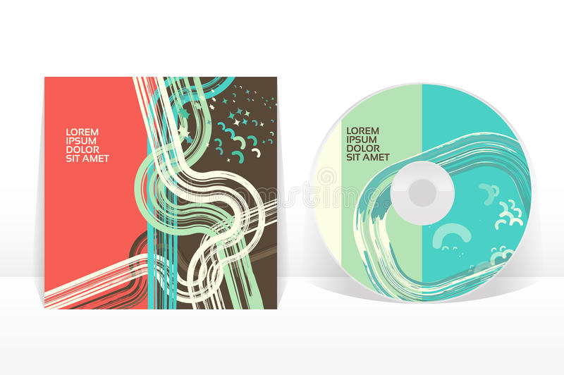 CD cover design template. EPS 10 vector, transparencies used royalty free illustration