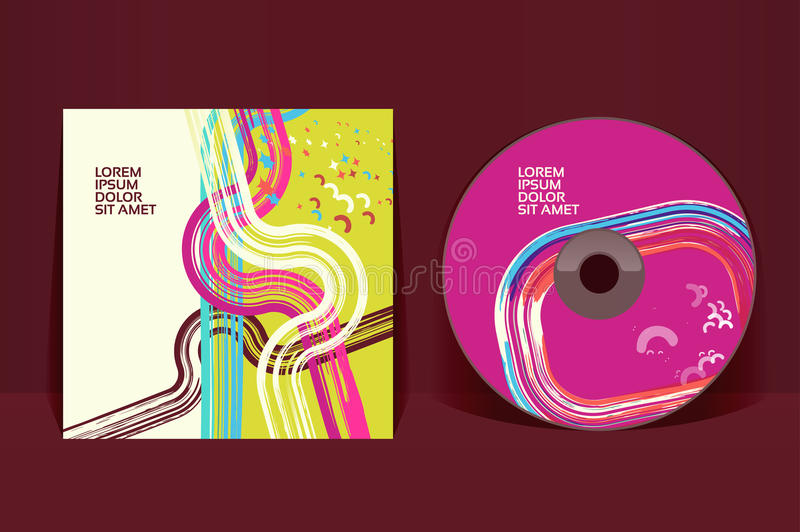 CD cover design template. EPS 10 vector, transparencies used stock illustration