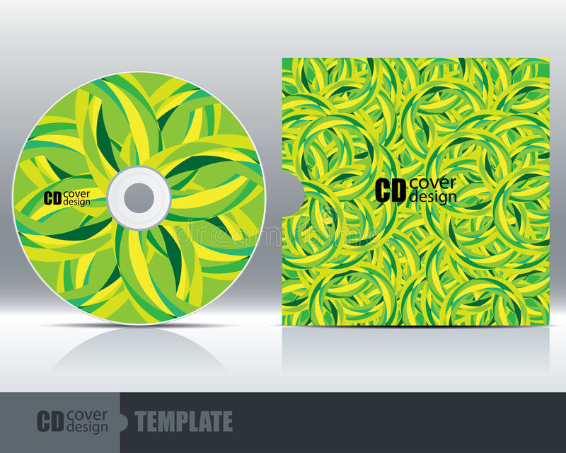 CD Cover Design Template Set 5. Vector vector illustration