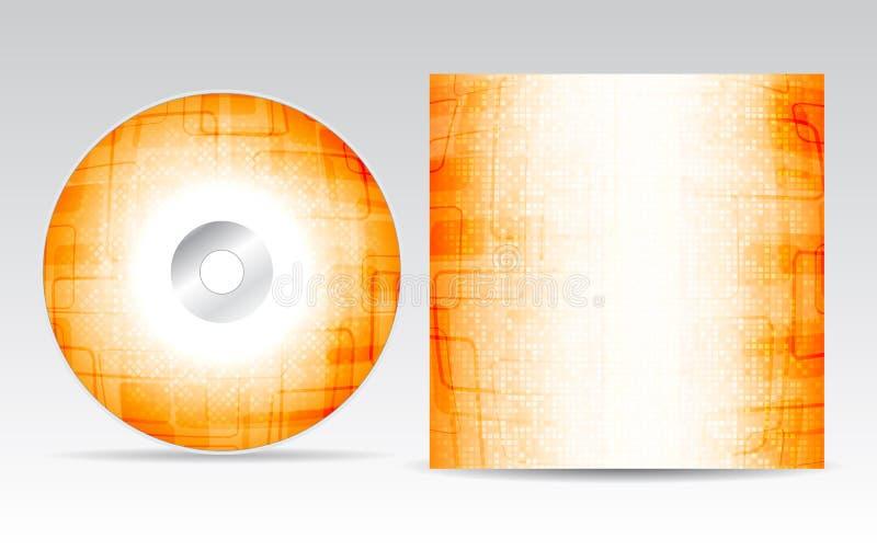 CD cover design stock illustration