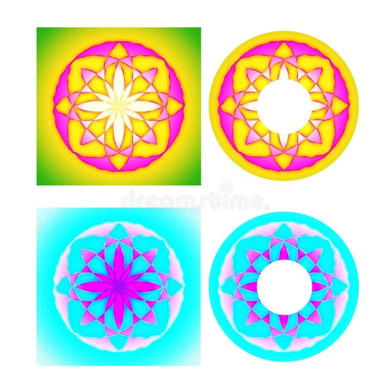 Download Cd cover floral design stock illustration. Illustration of print - 24355472