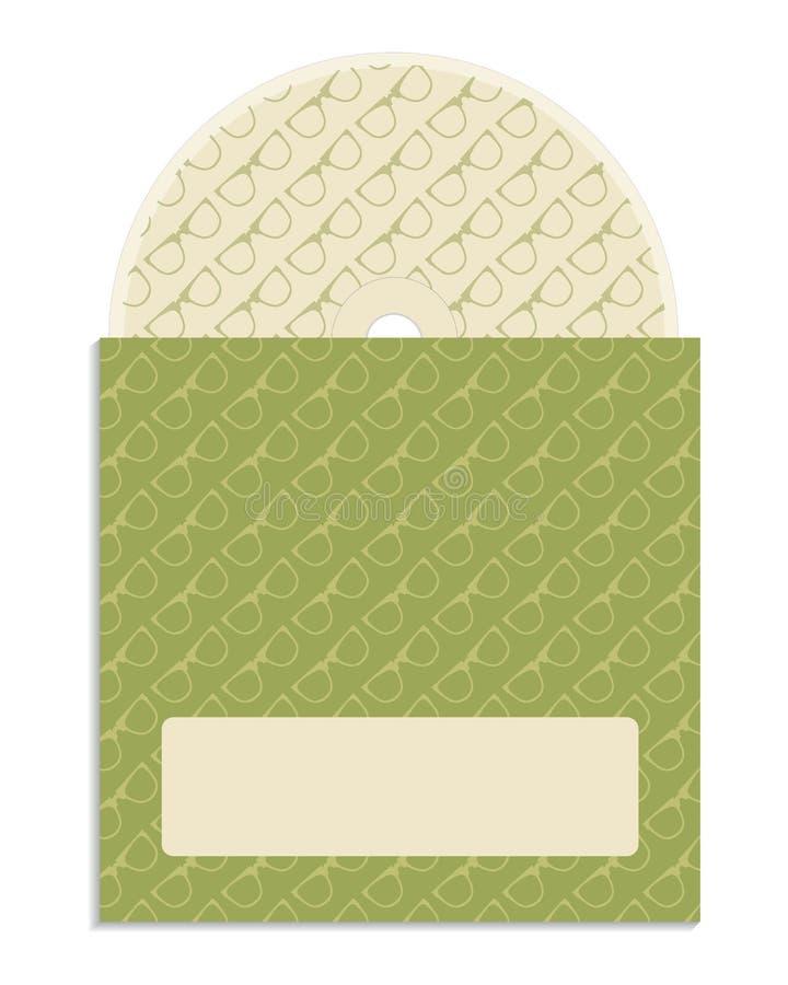 CD coverdesign. With hipster design stock illustration