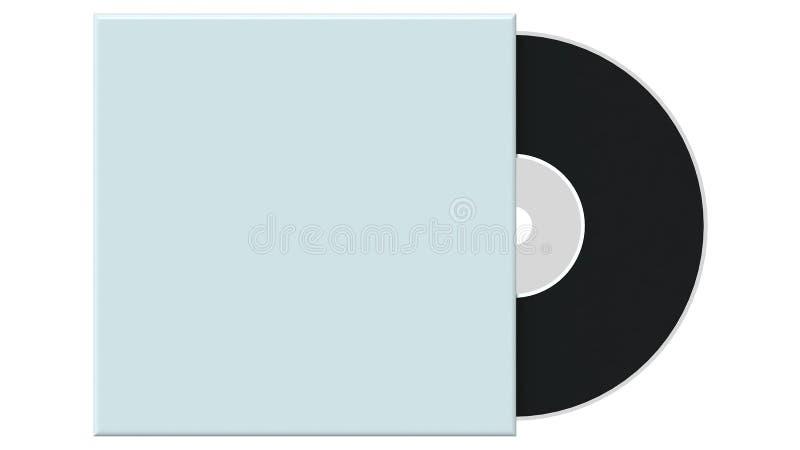 cd czarny pokrywa ilustracja wektor