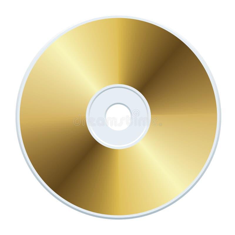 CD d'or illustration libre de droits