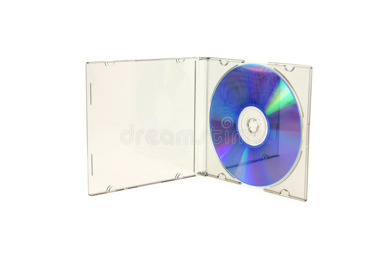 Cd d'isolement photographie stock