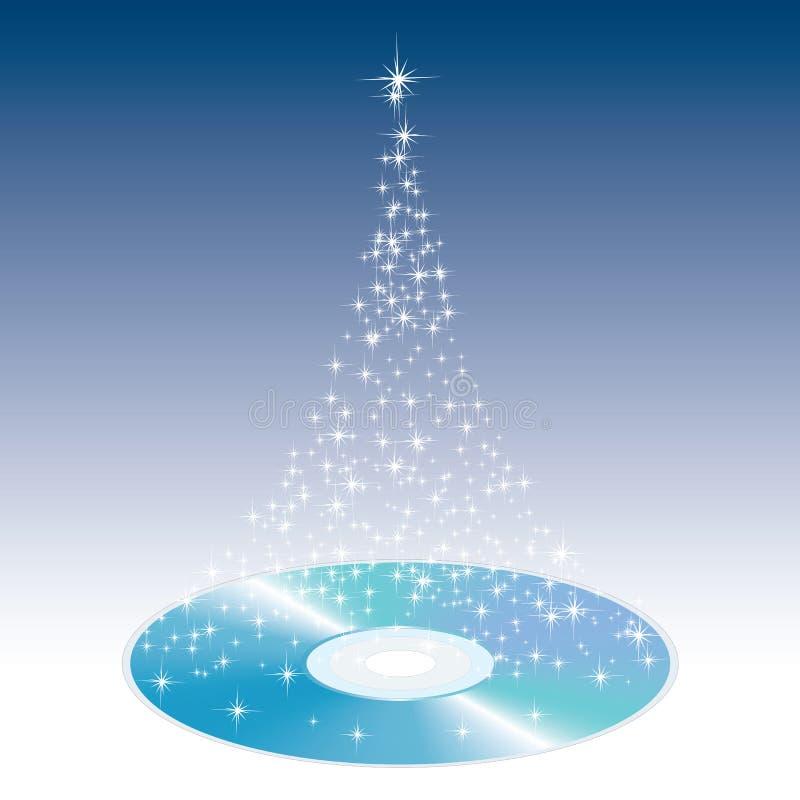 CD de la Navidad stock de ilustración