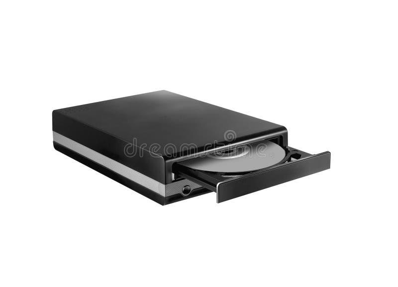 CD dell'azionamento - DVD - Blu Ray con un berretto nero e un disco fotografie stock libere da diritti