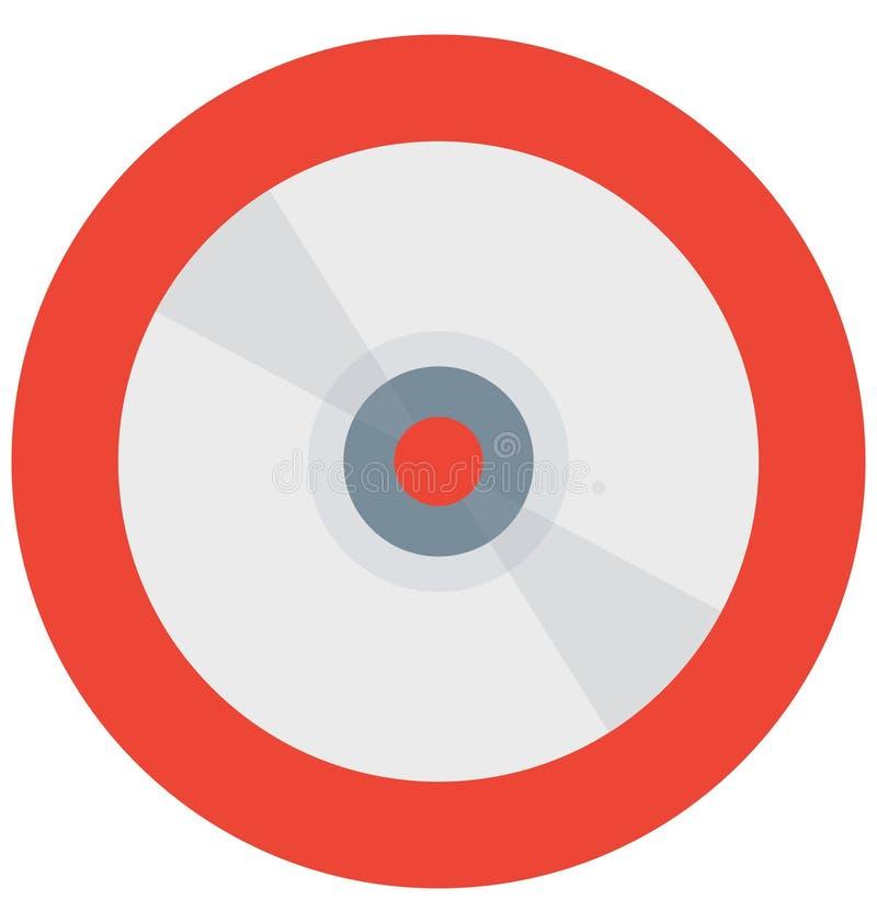 CD, Digitalschallplatte, lokalisierte Vektorikonen, die leicht geändert werden oder redigieren können stock abbildung