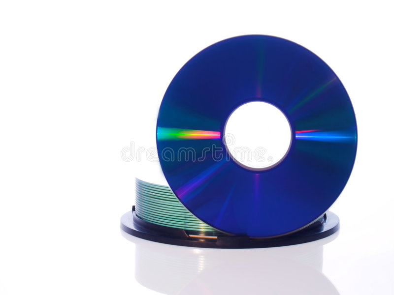 CD Disc. Isolated CD and DVD disc on white background royalty free stock images