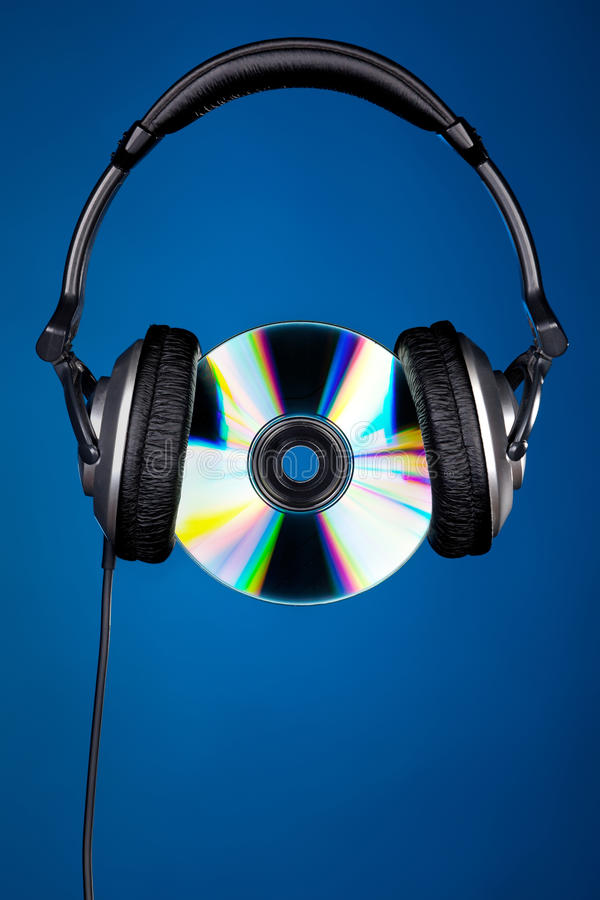 Download CD disc with headphones stock photo. Image of isolated - 20488418