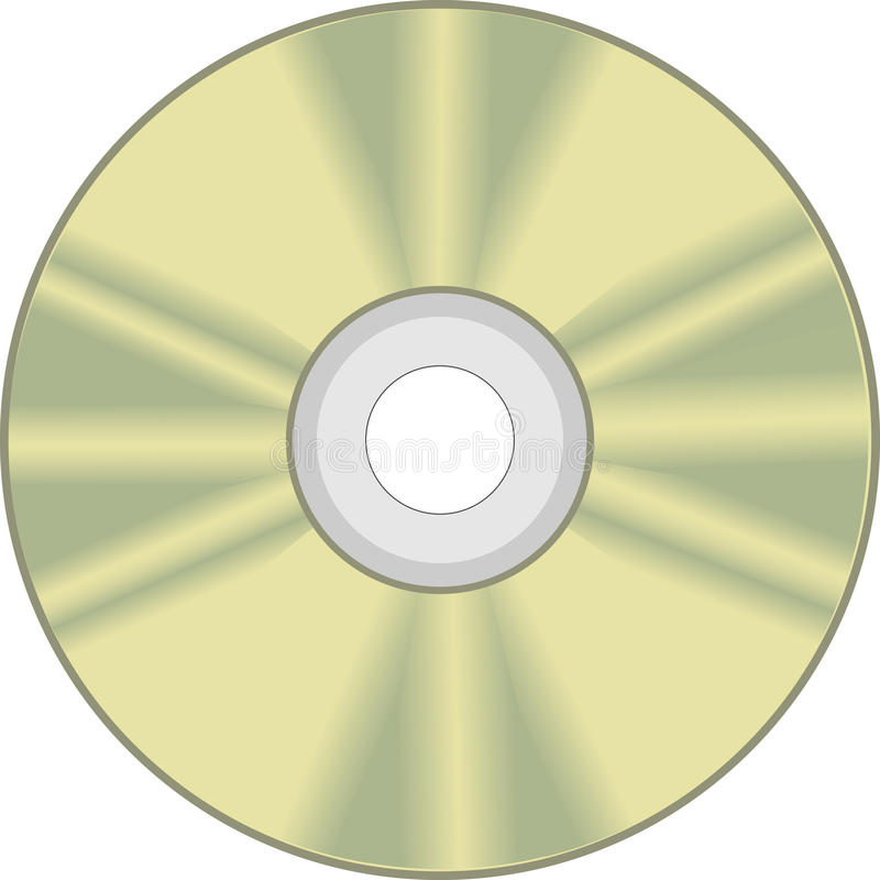 CD disk, CD ROM stock illustration
