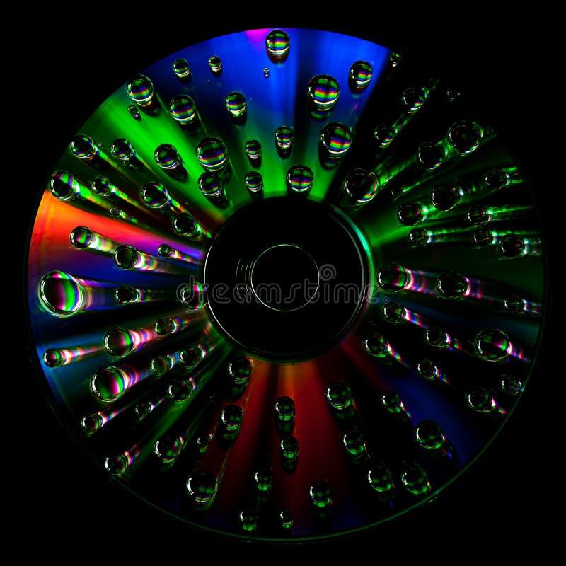 Download CD Diskett Med Vattendroppar Fotografering för Bildbyråer - Bild av data, refraktion: 76703643