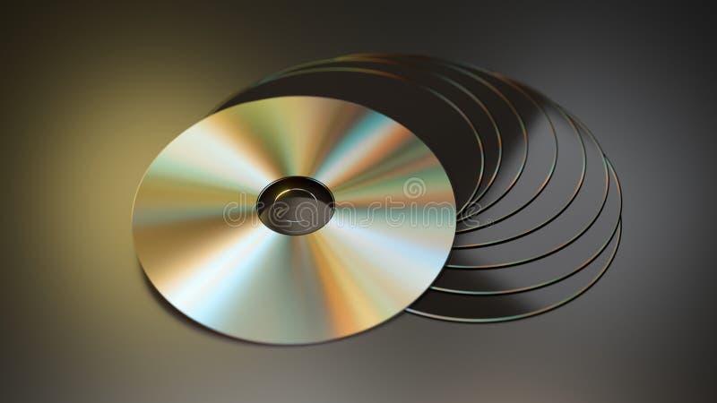 cd disksdvdbunt royaltyfria foton