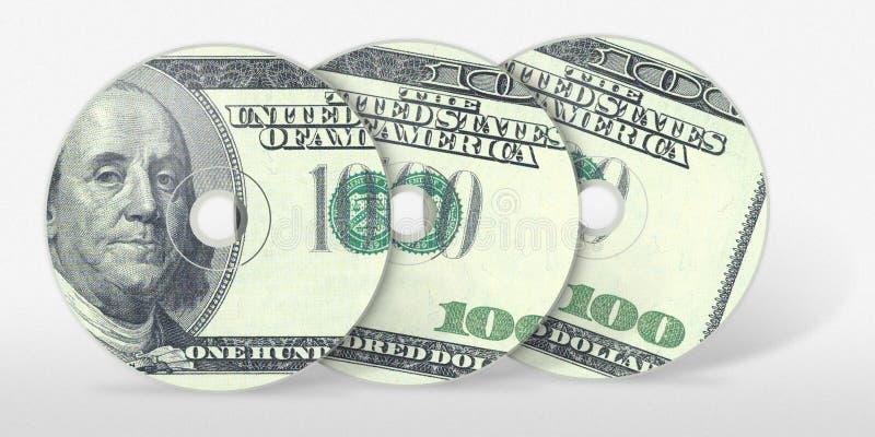 cd dollar hundra tre royaltyfri bild
