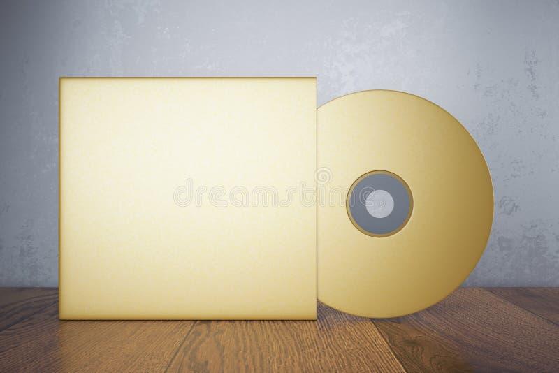 CD dorato in bianco illustrazione di stock