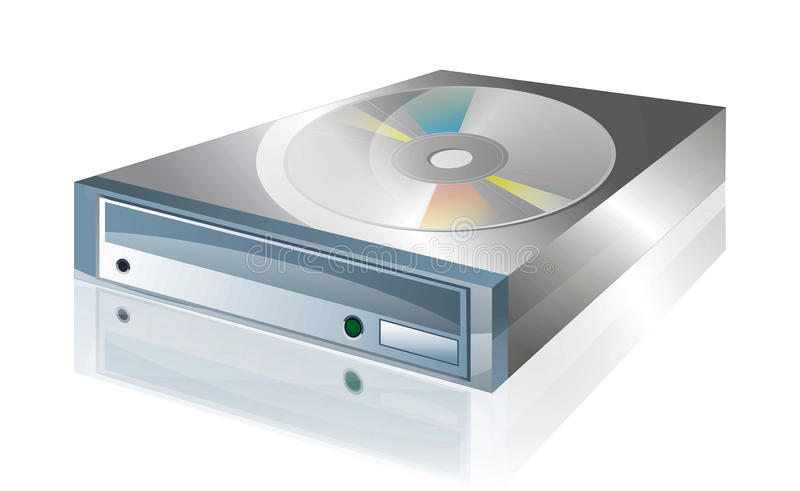 CD drive 2 royalty free illustration