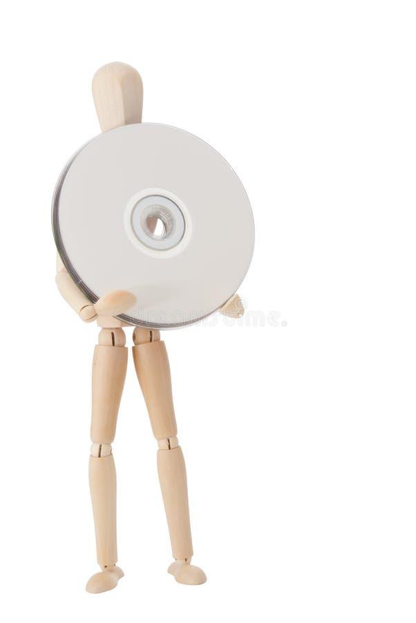 cd dvd куклы деревянное стоковые изображения rf