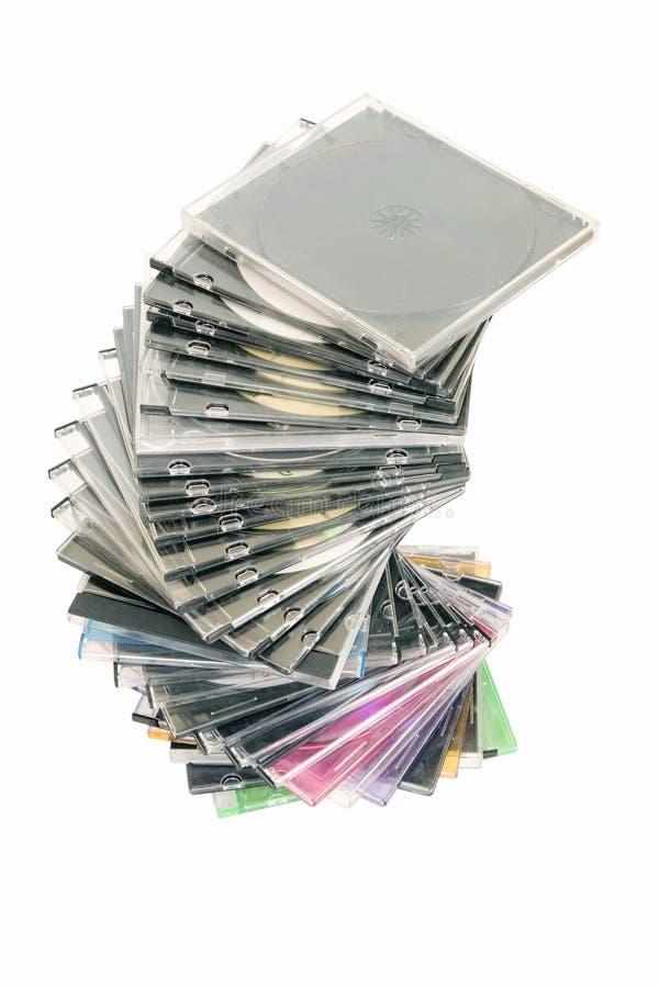 cd dvd сложенное вверх стоковая фотография rf