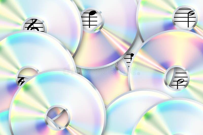 CD, dvd. stock illustratie