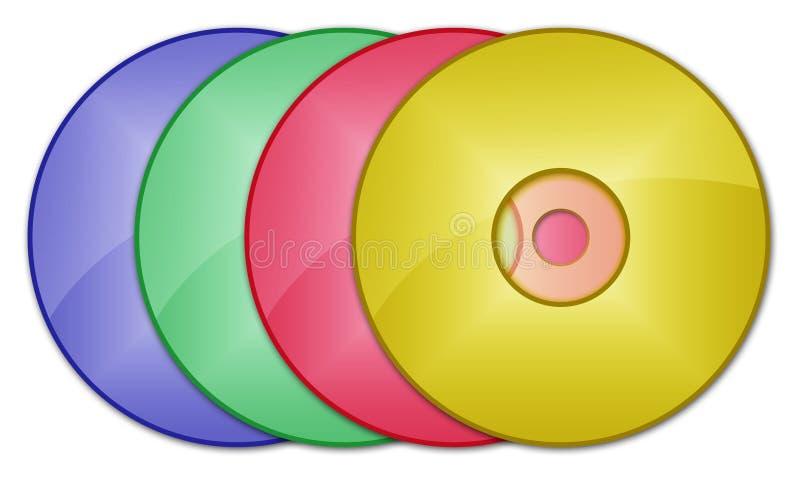 CD DVD lizenzfreie abbildung