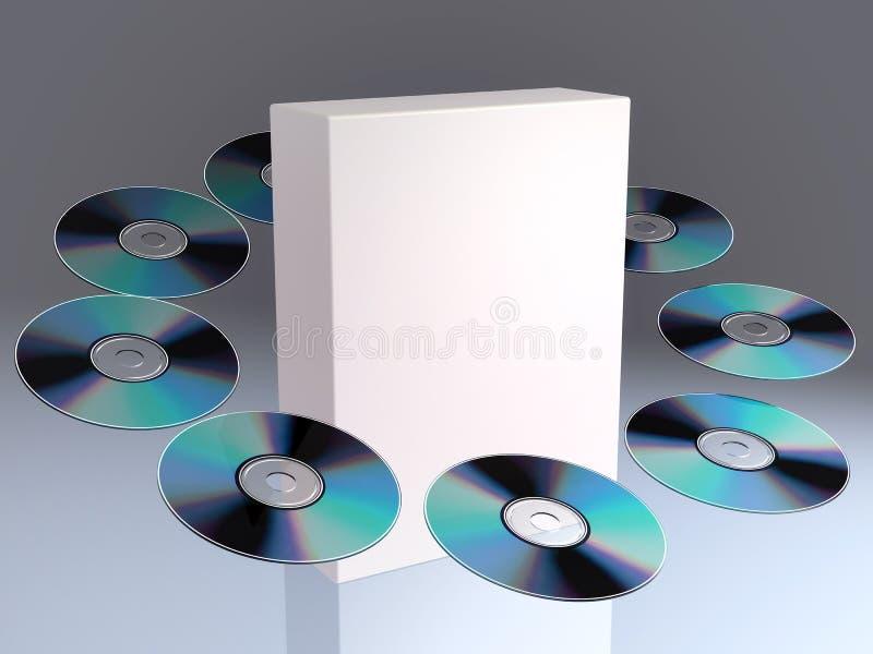 CD/DVD ilustração stock
