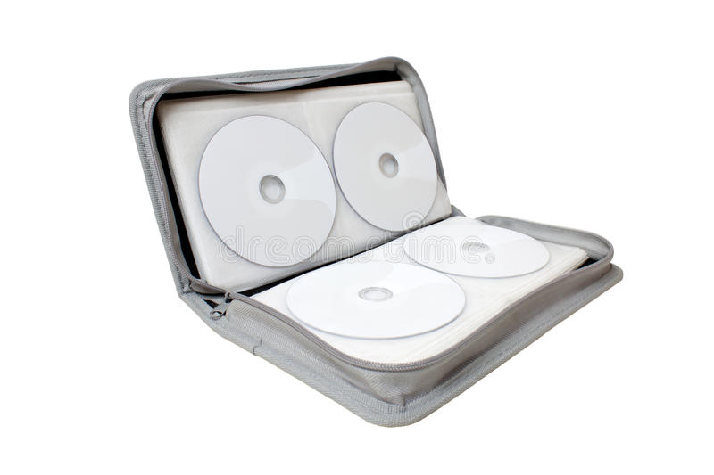 CD/DVD case. On white background royalty free stock image