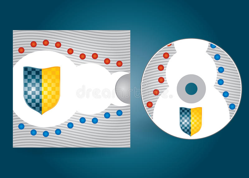 CD Or DVD Cover Royalty Free Stock Images