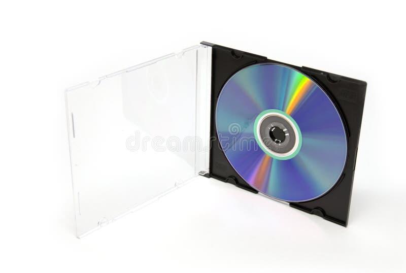 CD /DVD in de doos stock afbeeldingen