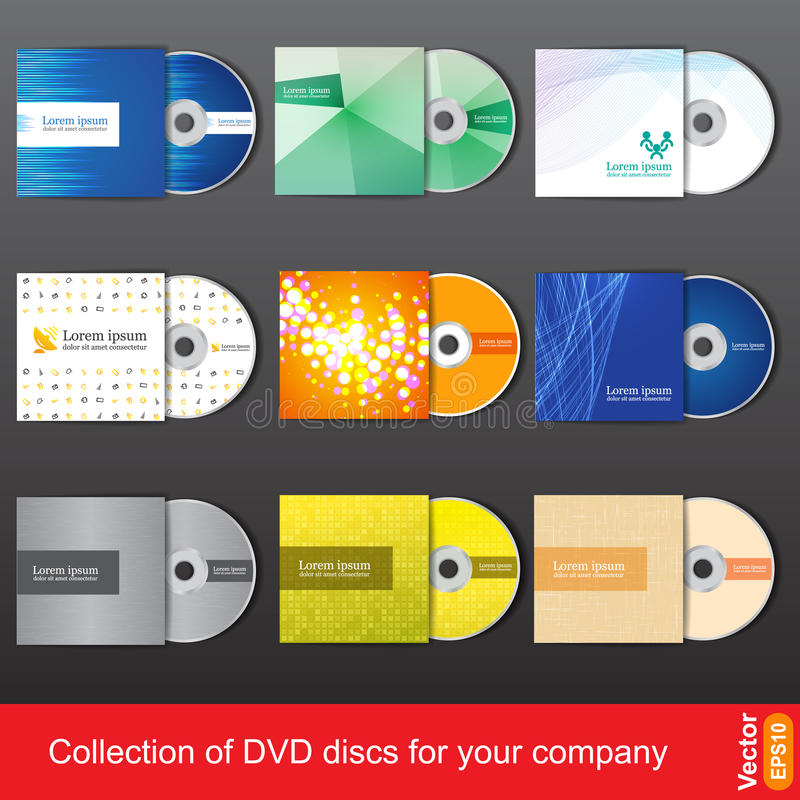 Cd or dvd design template for company presentation. And vector illustration royalty free illustration