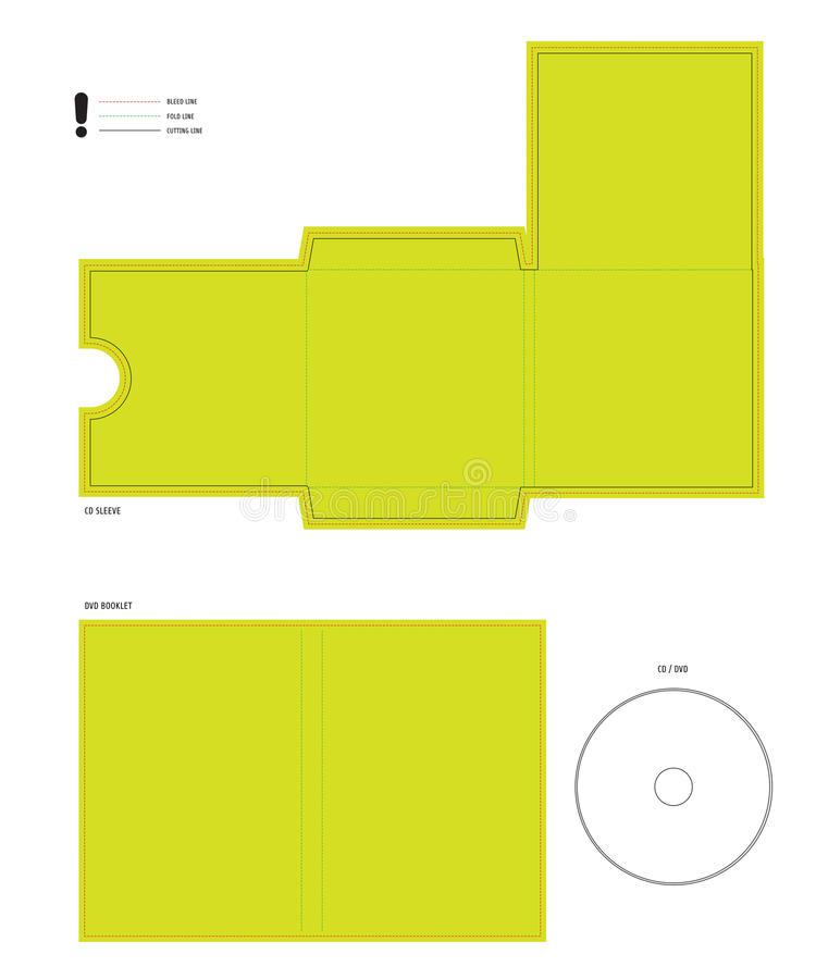 CD and DVD diecut layout vector illustration