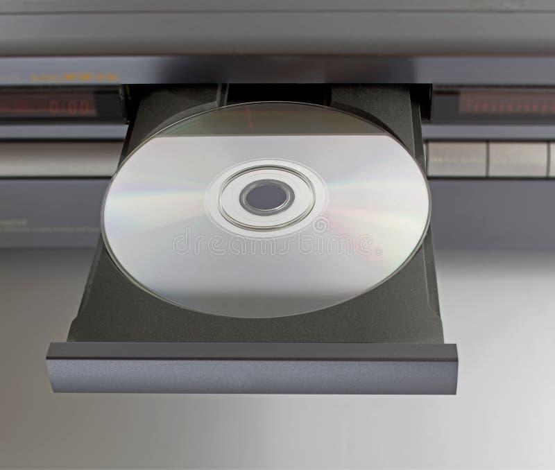 CD dvd in dienblad royalty-vrije stock afbeelding