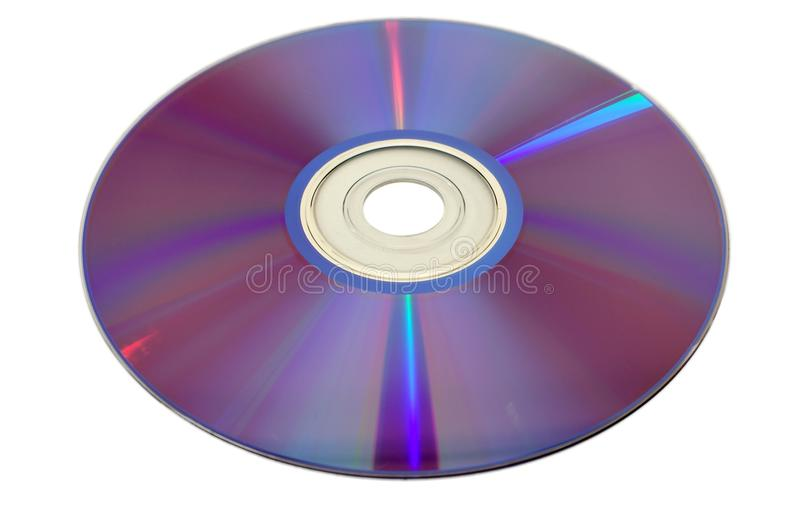 CD DVD Disc 6. Bottom side of CD DVD Blue-Ray optical disc isolated on white royalty free stock photos