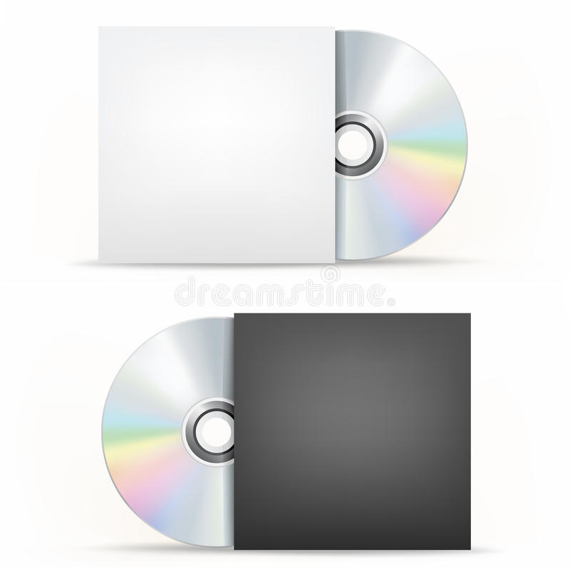 Download CD-DVD disc and cover stock vector. Illustration of backup - 54862814