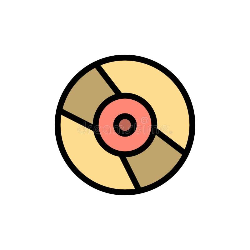 CD, Dvd, disco, icona piana di colore del dispositivo Modello dell'insegna dell'icona di vettore illustrazione di stock